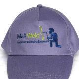 Gorra de béisbol/sombrero cabidos negros de encargo de la promoción del algodón de la venta caliente
