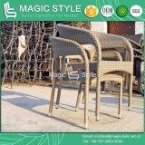 Cadeira de vime da cadeira do Rattan do jogo de café do prendedor que janta a cadeira Stackable da cadeira com tabela lateral (estilo mágico)