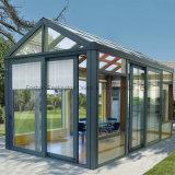 Sunroom de aluminio popular con el vidrio hueco/el vidrio Inferior-e (parada total transitoria)