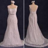 O laço real Tulle das fotos perla os vestidos de casamento da sereia (TM-mm125)