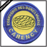 Goldenes Metallic Thread Embroidery Badge für All Kinds von Garment (BYH-10948))
