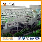 Модель высокого качества общественная строгая/модель здания/архитектурноакустические модели делать модели/запланирования ландшафта/весь вид знаков
