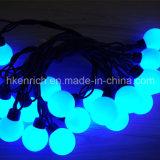Weihnachtszeichenkette-Licht der runden Kugel-LED mit 5m 50 Birnen