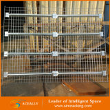 Decking galvanisé adapté aux besoins du client de treillis métallique pour le défilement ligne par ligne de palette de stockage d'entrepôt