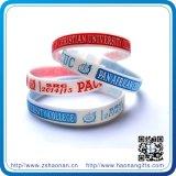 Braccialetti di gomma del silicone stampati abitudine calda del Wristband del commercio all'ingrosso di vendita