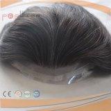 Toupee de Mens de partie attaché par main chaude de cheveux humains d'avant de lacet de couleur de Brown foncé pleine