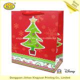 Sac de transporteur de papier enduit pour le cadeau de Noël (JHXY-PBG0028)