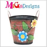 最も熱い昇進の鉄の金属の植木鉢の庭の装飾プランター