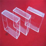 明確な水晶ガラスの正方形のペトリ皿