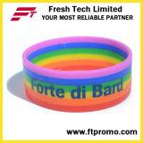 Wristband de venda quente do silicone do arco-íris 2016 com OEM