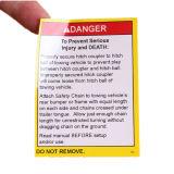 Selbstklebende kundenspezifische gedruckte warnende Sicherheits-Papierkennsätze