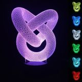 Visualisation 3D Cercle Artistique bulbaison 7-couleur rougeoyante LED Night Light Table Lamp bureau