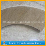 Telhas de pedra amarelas oxidadas naturais do revestimento/parede do granito G682 (com grões)