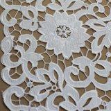 Cotone Crochet Embroidery Lace Fabric per Garment
