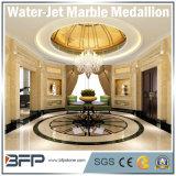Water-Jetによって自然な石造りベージュ大理石の平板かタイルまたはステップまたは線形またはモザイクまたは円形浮彫り
