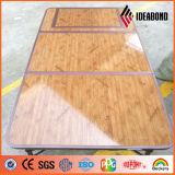 3 couches de bois de construction du regard 4*8 de panneau composé en aluminium enduit de pieds