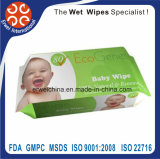 O bebê anti-bateriano macio natural limpa o Wipe descartável