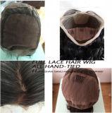 """cordón lleno modificado para requisitos particulares el 150% europeo de 16 """" del pelo de las pelucas del cordón suizos de la peluca"""