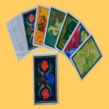 Publicidad de tarjetas que juegan del póker con la impresión de papel