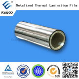 Película metalizada plata para laminar de papel