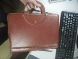 Dobrador de couro do fólio da almofada do caderno das carteiras