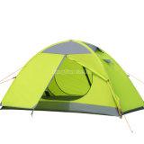 Personen-Zelte der doppelten Schicht-1, preiswerter Antisturm-kampierendes Zelt