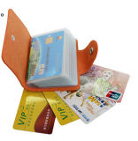 Einbauschlitz-Geschäfts-Kreditkarte-Mappe des Form PU-Leder-24