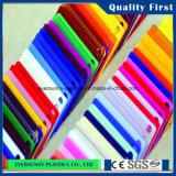 Colorido echó la hoja de plexiglás Hoja de color acrílico