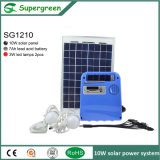 Generador solar portable en el sistema casero con el cargador/la radio móviles