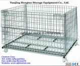 Pliable métal Grillage Pallet Cage pour Entrepôt