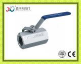 1 robinet à tournant sphérique fileté par PC d'acier inoxydable avec le certificat de la CE