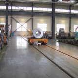 tambour de chalut en acier de bobine de la capacité 20t avec des roues de bâti