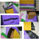 Sobre de envío coloreado plástico impermeable del embalaje del envío