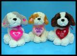 Het gevulde Stuk speelgoed van de Pluche van de Hond van de Pluche van Dieren