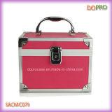 Feste rosafarbene Farbe eingehängter kosmetischer Fall-Plastikeitelkeits-Kasten (SACMC079)