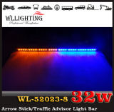 二重Color LED Traffic Advisor 32LED Arrow Stick Strobe Light