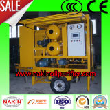 Vuoto Transformer Oil Filtration con Trailer, Mobile Type Oil Purifier