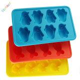 Bandeja de hielo Venta caliente Moldes personalizados único del diseño respetuoso del medio ambiente del cubo de hielo bandeja del silicón