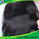 extensão natural do cabelo humano do Virgin do cabelo da onda da classe 7A