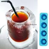 O molde da bandeja do cubo de gelo faz o gelo dos vidros de tiro moldar