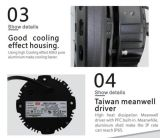 Super helle 120lm/W 100W LED hohe Bucht-Beleuchtung ersetzen 400W Shoebox Bereichs-Licht der Abwechslungs-LED
