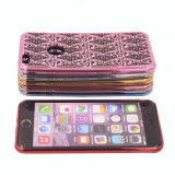 El leopardo TPU electrochapa con el iPhone 6 del diamante la caja del teléfono celular 7 7plus (XSDD-033)