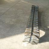 Trilha de borracha do OEM de Puyi para as máquinas escavadoras 250*48*80 de Ihi