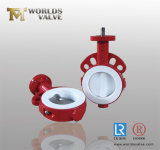 PTFE PFA Full Lined Wafer Type Butterfly Valve con l'iso Wras Certificates del CE