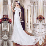 Boat Neck Lace Real Photos Mermaid Wedding Dresses (TM-MS004)