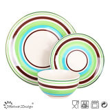 18PCS Highquality Stripe Design Handpainting Ceramic Dinner Set