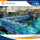 5 galones mineral pura para beber la botella de agua de lavado de llenado de la máquina que capsula