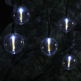 Zonne Koord Lichte 10 LEDs van de Kristallen bol