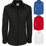 Chemise 100% formelle de chemise de coton de femmes longue (A455)