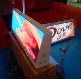 Visualización de LED al aire libre de HD P5 para la tapa del taxi (publicidad dinámica)